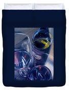 Rosenblum And Glasses Duvet Cover by Donna Tuten