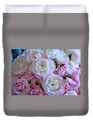 Roses On The Veranda Duvet Cover by Carol Groenen