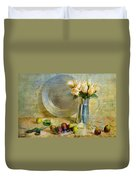 Roses With Figs Duvet Cover by Diana Angstadt