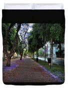 Rothschild Boulevard Duvet Cover by Ron Shoshani