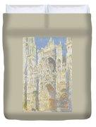 Rouen Cathedral West Facade Duvet Cover by Claude Monet