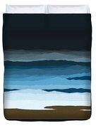 Rough Seas Duvet Cover by Val Arie