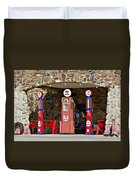 Route 66 - Cool Springs Camp Az Duvet Cover by Christine Till