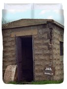 Route 66 - Texola Jail Duvet Cover by Frank Romeo