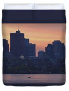 Rowing Boston Duvet Cover by Juergen Roth