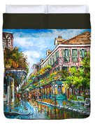 Royal at Pere Antoine Alley Duvet Cover by Dianne Parks