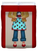 Ruby's Red Shoes Duvet Cover by Catherine Holman