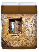 Ruined Wall Duvet Cover by Carlos Caetano