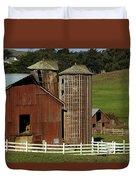 Rural Barn Duvet Cover by Bill Gallagher