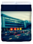 Rush Hour - Vintage Duvet Cover by Hannes Cmarits
