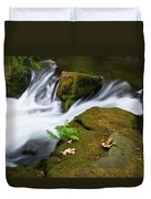 Rushing Water At Whatcom Falls Park Duvet Cover by Priya Ghose