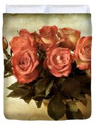 Russet Rose Duvet Cover by Jessica Jenney