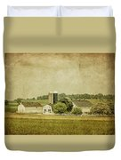 Rustic Farm - Barn Duvet Cover by Kim Hojnacki