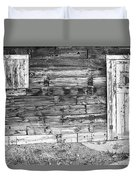 Rustic Old Colorado Barn Door And Window Bw Duvet Cover by James BO  Insogna