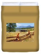 Rustic Wagon Duvet Cover by Marty Koch