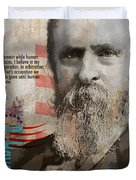 Rutherford B. Hayes Duvet Cover by Corporate Art Task Force