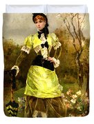 Sa Majeste La Parisienne Duvet Cover by Alfred Stevens