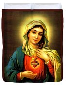 Sacred Heart Duvet Cover by Unknown