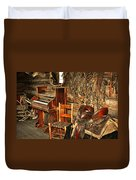 Saddle And Piano Duvet Cover by Marty Koch