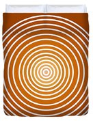 Saffron Colored Abstract Circles Duvet Cover by Frank Tschakert
