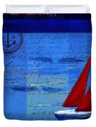 Sail Sail Sail Away - j173131140v5c2 Duvet Cover by Variance Collections