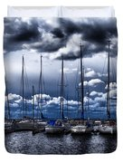 sailboats Duvet Cover by Stylianos Kleanthous