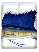 Sailfish Duvet Cover by Charles Harden