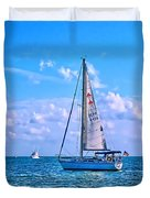 Sailing off of Key Largo Duvet Cover by Chris Thaxter