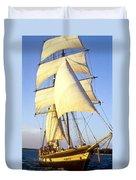 Sailing Ship Carribean Duvet Cover by Douglas Barnett