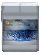 Sailing The Liquid Blue Duvet Cover by Joyce Dickens