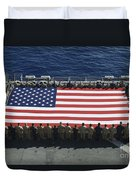 Sailors And Marines Display Duvet Cover by Stocktrek Images