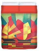 Sails And Ocean Skies Duvet Cover by Tracey Harrington-Simpson