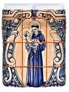 Saint Anthony Of Padua Duvet Cover by Christine Till