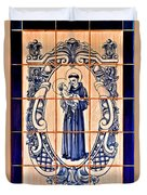 Saint Anthony Of Padua Duvet Cover by Christine Till