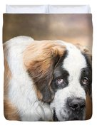 Saint Bernie Duvet Cover by Carol Cavalaris