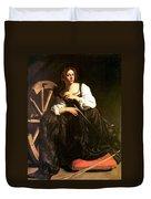 Saint Catherine Of Alexandria Duvet Cover by Caravaggio