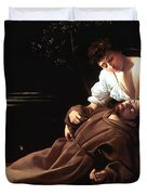 Saint Francis Of Assisi In Ecstasy Duvet Cover by Caravaggio