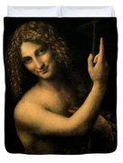 Saint John the Baptist Duvet Cover by Leonardo da Vinci