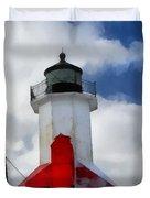 Saint Joseph Michigan Lighthouse Duvet Cover by Dan Sproul