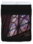 Sainte-Chapelle Window Duvet Cover by Ann Horn