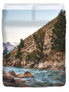 Salmon River In The Twilight Duvet Cover by Robert Bales