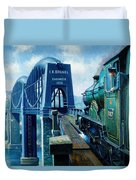 Saltash Bridge. Duvet Cover by Mike  Jeffries