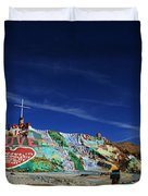 Salvation Mountain Duvet Cover by Laurie Search