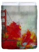 San Francisco City Collage Duvet Cover by Corporate Art Task Force