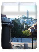San Francisco Coit Tower At Levis Plaza 5D26213 Duvet Cover by Wingsdomain Art and Photography