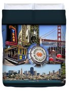 San Francisco Collage Duvet Cover by Kelley King