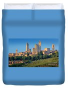 San Gimignano Skyline Duvet Cover by Inge Johnsson
