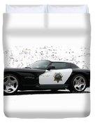 San Luis Obispo County Sheriff Viper Patrol Car Duvet Cover by Tap On Photo