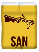 San San Diego Airport Poster 1 Duvet Cover by Naxart Studio