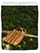 Sand Lot Baseball Duvet Cover by Bill Cannon